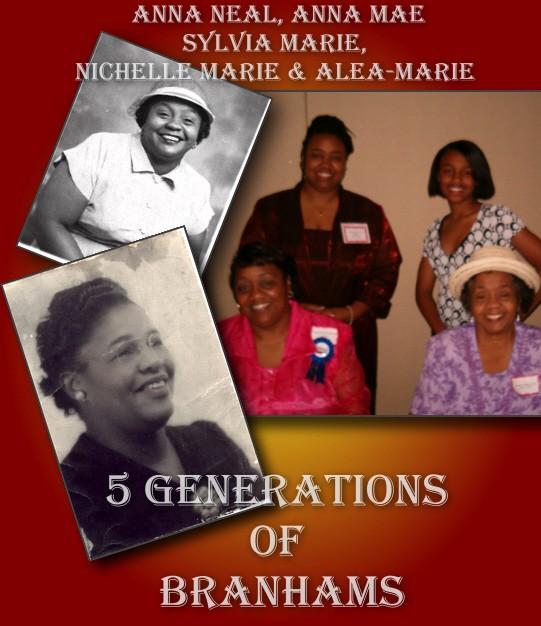 5 Generations of Branhams'