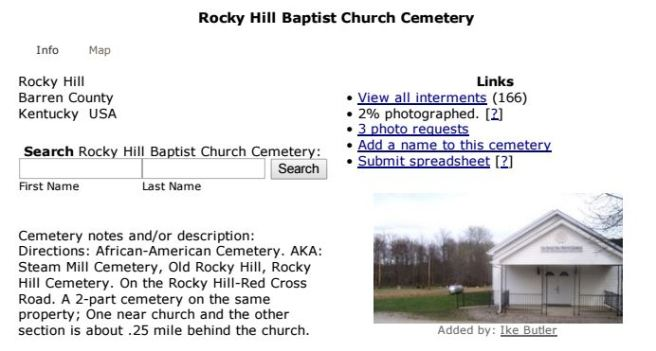 Rocky Hill Baptist Church Cemetary